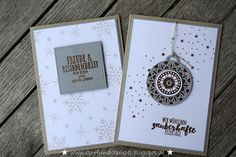Stoff und Stempel / Weihnachtskarten / Gestickte Weihnachtsgrüße / Tannenzauber / Stampin'Up!