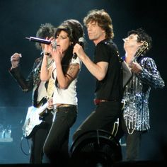 AMY WINEHOUSE, MICK JAGGER et KEITH RICHARDS