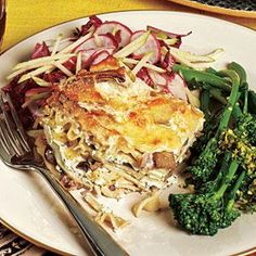 Truffled Wild Mushroom Lasagna by Cooking Light Healthy Lasagna Recipes, Best Lasagna Recipe, Baked Pasta Recipes, Vegetarian Recipes, Cooking Recipes, Meatless Lasagna, Paleo Lasagna, Cooking Rice, Delicious Recipes