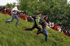 Cheese Rolling At Cooper's Hill, England