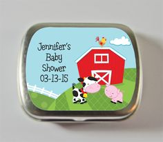 farm baby shower theme party favors