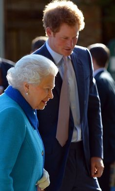 """Pin for Later: Prince Harry Says He Sees Queen Elizabeth as His """"Boss"""" More Than His Grandmother"""