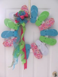 Another cute flip flop wreath