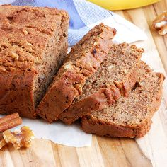 Gluten Free Banana Nut Bread (My Favorite)- this never lasts long art my house! My kids and friends LOVE this recipe.