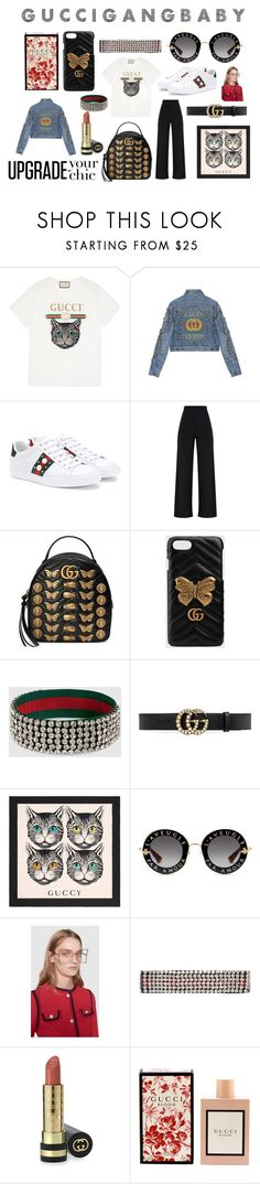 Gucci Gang by mariavalcerpa on Polyvore featuring moda, Gucci, chic, gucci, bloom, gang and upgrade