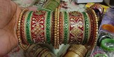 Indian Jewellery Design, Indian Jewelry, Chuda Bangles, Bridal Chuda, Rajputi Dress, Gold Bangles Design, Bridal Bangles, Indian Bridal Fashion, Big Fat Indian Wedding