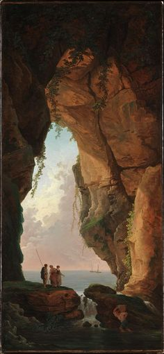 "Hubert Robert (French, 1733-1808), ""La bouche d'une grotte/The Mouth of a Cave"" (1784)"