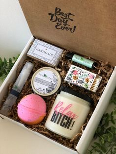 PMS Care Package Funny Gift For Friend Gag Sister Bitchy Grouch Mood Stress R