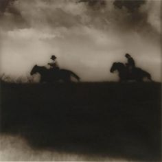 """Jack Spencer ) """"Riders Across the Levee."""" I have a photograph on wood that looks eerily familiar in style.I am going to have to investigate now. Out Of Focus, Great Shots, Daydream, Art Gallery, Horses, In This Moment, Black And White, World, Artist"""