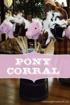 Pony Corral at 2nd Birthday Party :: Pony Themed Birthday Party from Celebrating Everyday Life (http://celebratingeverydaylife.com)