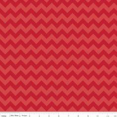 Riley Blake Designs - Knit Basics - Small Chevron Tone on Tone Knit in Red