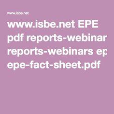 www.isbe.net EPE pdf reports-webinars epe-fact-sheet.pdf