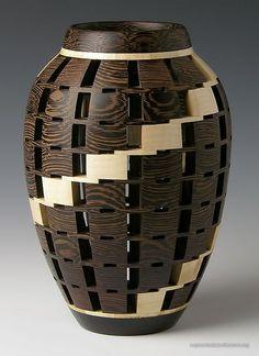 "Tom Kenyon 05 | 6.75""h x 4.5""dia - maple, wenge | Segmented Woodturners | Flickr"