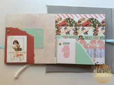 December Daily, Mini Albums, Different Types Of, Canvases, Xmas, December, Mini Scrapbooks