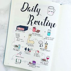 A daily routine in doodles? Why yes you should! Inspo courtesy @bujo_addict93.  . . . @Regrann -  Daily Routine Goals. A mix between when I'm on a semester break / during the semester .  #regrann