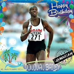 Happy Birthday Donovan Bailey!!! Jamaican born Retired Canadian sprinter, who once held the world record for the 100 metres race following his gold medal performance in the 1996 Olympic Games!!! Today we celebrate you!!! @mrdonovanbailey .  .  .  #DonovanBailey #islandpeeps #islandpeepsbirthdays #Sprinter #Olympics #GoldMedalist