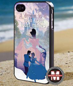 Disney cinderella quotes - iPhone 4/4s/5 Case - Samsung Galaxy S3/S4 Case - Blackberry Z10 Case - Ipod 4/5 Case - Black or White