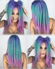 Adorable Mermaid Color Melt by @hairgod_zito