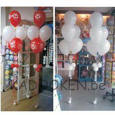 Ballonboeket, trosje ballonnen, heliumballonnen  www.kadooken.be