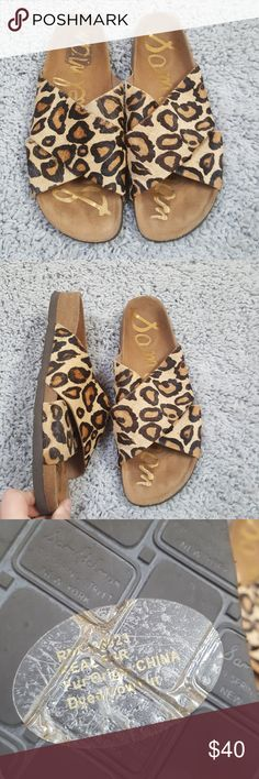 [Sam Edelman] Leopard Print Adora Sandals Cute pair of gently worn sandals in great used condition. Leather upper and calf hair.   I would love to accept your offer! Add to bundle for a private offer! Add your likes to a bundle for a private offer plus discounted shipping! Sam Edelman Shoes Sandals