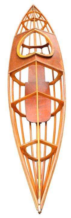 """Large Skeleton Kayak, """"PBK14"""" England, 1920 at 1stdibs"""