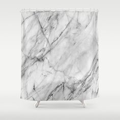 Buy Shower Curtains featuring Marble by Patterns and Textures. Made from 100% easy care polyester our designer shower curtains are printed in the USA and feature a 12 button-hole top for simple hanging.