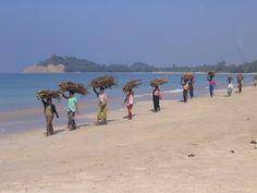Burma, northern coast