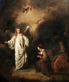 Ferdinand Bol. Hagar meeting the angel in the desert. (около 1650, Национальный музей в Гданьске)