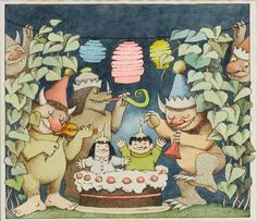 MAURICE SENDAK - HOORAY FOR HAPPY BIRTHDAYS IN SPRING AND SUMMER!, CIRCA 1970.