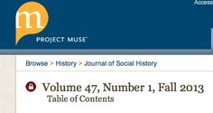 Proyecto Muse  Journal of Social History