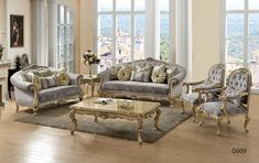 French provencial ,Victorian Living room Victorian Style Furniture, Victorian Sofa, Victorian Living Room, Luxury Bedroom Sets, Luxurious Bedrooms, Home Bedroom, Bedroom Furniture, Marble Top Dresser, Headboard And Footboard