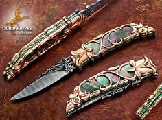 Knife Model Gallery (SOLD - Example Only)/Golden Rose Custom Knife - Guild Knives