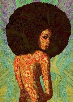 Afro Art - natural