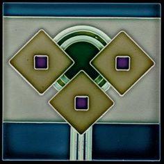 Trendy Ideas For Art Nouveau Tiles Berlin Arts And Crafts Movement, Ceramic Painting, Ceramic Art, Azulejos Art Nouveau, Old Women With Tattoos, Art Nouveau Tiles, Dark Art Drawings, Decorative Tile, Art Deco Design