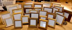 20 Small Gold Frames for 50th Wedding Anniversary Party Event on Etsy, $198.00