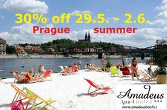 Happy days in PRAGUE NOW 30.5. - 2.6.you can tay in Prague hotels with prices of youth hostels. Come and enjoy our great city.