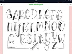 Handlettering Funny scribbled letters Funny scribbled letters How to Play it Safe in a Hand Lettering Alphabet, Doodle Lettering, Creative Lettering, Brush Lettering, Calligraphy Letters Alphabet, Doodle Alphabet, Hand Lettering Styles, Hand Drawn Lettering, Architecture Drawing Art