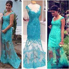 long prom dress, lace prom dress, blue prom dress, occasion dress, 2016 prom dress, long evening dress, BD14526