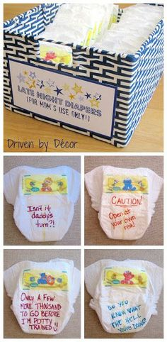 7 Fun Baby Shower Games You'll Actually Want To Play Late-Night-Diapers-Baby-Shower-Activity-The-Best Related posts:OH MY GOD! Take a look at these pretty flower balloon arrangementsNew Baby Shower Games And Prizes Co-ed 57 IdeasPrintable Left Right. Idee Baby Shower, Bebe Shower, Diaper Shower, Fiesta Baby Shower, Fun Baby Shower Games, Baby Shower Activities, Girl Shower, Baby Shower Advice, Babyshower Games For Boys