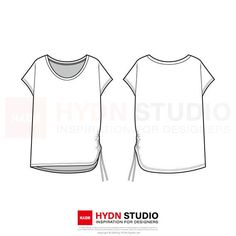 Width: 22 Centimeters AI vector file compatible with Adobe Illustrator CC EPS vector file compatible with Adobe Illustrator PDF file can easily be printed on paper as well copyright © 2019 by HYDN Studio Ltd Fashion Design Template, Fashion Templates, T Shirt Sketch, Flat Sketches, Fashion Figures, Fashion Poses, Technical Drawing, Illustration Fashion, Fashion Illustrations