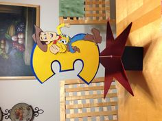 Toy Story Birthday Centerpiece made with Cricut.