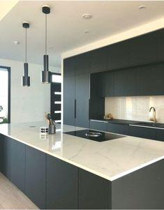 54 the unexposed secret of house design interior kitchen layout 8 Modern Kitchen Interiors, Luxury Kitchen Design, Kitchen Room Design, Home Room Design, Kitchen Cabinet Design, Kitchen Layout, Home Decor Kitchen, Interior Design Kitchen, Kitchen Designs