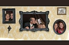 Great way to have fun with pictures at the wedding, in place of a photo booth