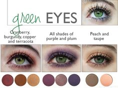 Best Eyeshadow Color for Green Eyes Colours that Emphasize Your Eyes Mateja S Be. Best Eyeshadow C Dark Green Eyes, Hazel Green Eyes, Hair Colour For Green Eyes, Girl With Green Eyes, Eye Color, Brown Eyes, Hair Colors, Eyeshadow For Green Eyes, Best Eyeshadow