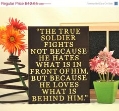 ThanksABunch - SALE - True Soldier - Expressive Art on Canvas wall decor for Dorm, kitchen, Kids room, family room wall art