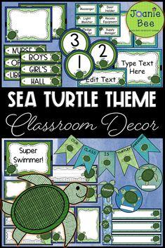 Sea Turtle Themed Classroom