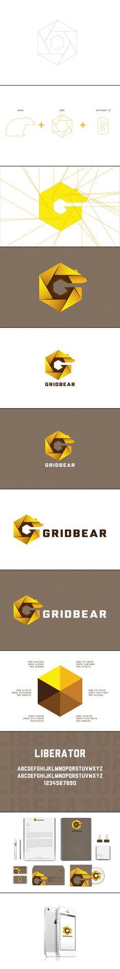 Gridbear Logo Design and Brand Identity.