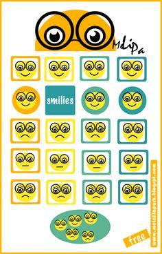 digital and printable smiley stickers by MeinLilaPark #free #freebie #smileys…