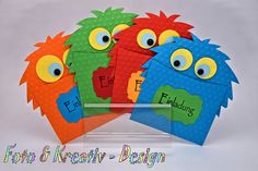 Funny invitation for the next children& birthday. Made from embossed . Funny invitation for the next children& birthday. Made from embossed cardboard, half pearls, Monster Invitations, Diy Birthday Invitations, Birthday Cards, Invitations Kids, Monster Birthday Parties, Bear Birthday, Monster Party, Sunday School Crafts, Halloween Cards