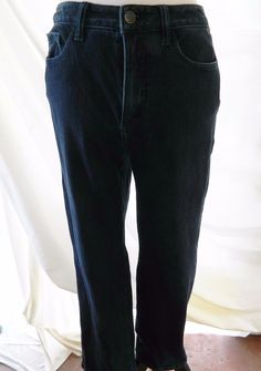 Women's Coldwater Creek Skinny Straight Leg Jeans Classic Fit Dark Blue Size P8…